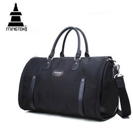 Wholesale Foldable Travel Bags - Wholesale- Nylon Folding Travel Bag Hand Luggage Business Waterproof Shoulder Suit Bags Large Capacity Tote Foldable Duffle Bag Unisex