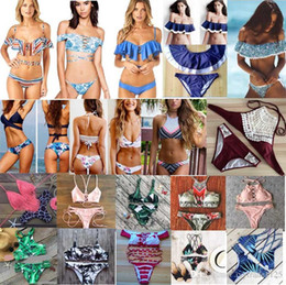 Wholesale Bra Swimwear - 100 styles new arrivals Swimwear bikini sexy two pieces Triangle bikini Swimsuit lady sexy Swimsuit Padded bra Bikini free ship