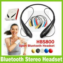 Wholesale Handsfree Headphone - bluetooth Headset 800 Wireless Bluetooth 4.0 Stereo sport neckband Headset Earphone Handsfree in-ear headphone HB-800 900 with box OM-CD3