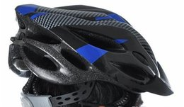 Wholesale Bike Bicycle Helmet White - Cycling Bicycle Adult Mens Bike Helmet Red carbon color With Visor Mountain bike free shipping