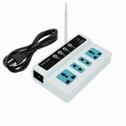 Gsm remote sim on-line-Freeshipping Controle Remoto Sem Fio 4 Soquetes do Telefone Móvel GSM SIM Interruptor de Tomada Inteligente