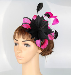 Wholesale Hot Pink Wedding Hat - 17 colors avaliable HOT SALE millinery high quality sinamay material fascinator headwear wedding hair accessories suit for all season MYQ001
