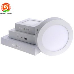 Wholesale Thinnest Ceiling Light - Promotion Sale Surface mounted led downlight Dimmable panel light SMD2835 Ultra thin circle ceiling kitchen Bathroom free shipping
