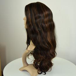 Wholesale Wig Long Straight Hair 34 - Customized 1B with 30# highlights silk top Jewish wig Kosher human hair sheitels long layer Mongolian human hair