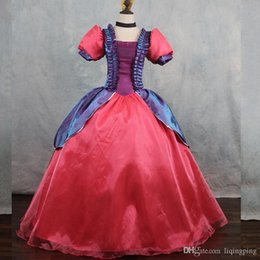 Wholesale Cinderella Dresses For Sale - Hot Sale 2017 Red and Light Yellow Square Collar Short Sleeve Anime Movie Cinderella Princess Cosplay Dresses For Women