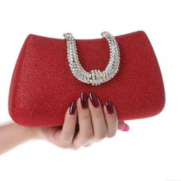 Wholesale Sumptuous Crystal - 2016 new women evening bag diamante-studded bags crystal U handbag Diamond Sumptuous High-grade dinner bag clutch purse Y007