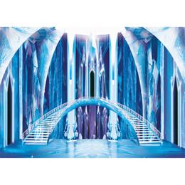 2019 contos de fada para crianças Interior Congelado Castelo Fotografia Backdrops Princesa Azul Ice Bridge Escadas De Conto De Fadas Crianças Crianças Estúdio Sessão De Fotos De Fundo contos de fada para crianças barato
