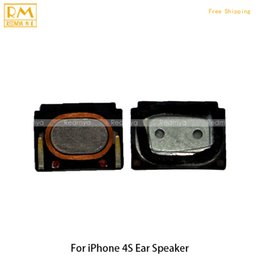 Wholesale Earpiece Speaker 4g - 50pcs lot For iphone 4G 4S Ear Speaker Headset Flex Cable Sound Earphone Earpiece Headphone Sound Repair Replacement Phone Parts Original