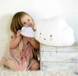 Wholesale Smiling Faces Lamps - LED Night Light Cute Cloud Moon Smile Face Novelty Bedside Lamp Creative Room Decor Lighting Emitting Toy