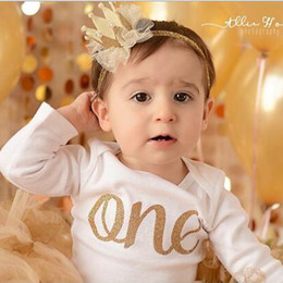 Wholesale Baby Crown Flowers - 12 Colors Baby Headbands Flower Pearl Crown Headbands For Girls Kids Lace Headwrap Children Party Hair Accessories Birthday Crowns KHA358