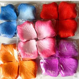Wholesale Colorful Bridal Shower - Set of 120PCS Colorful Silk Rose Petals 4.5cm Romantic Artificial Rose Petals for Wedding Party Decoration Bridal Shower Favors Mix Colors