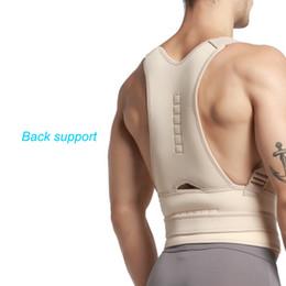 Wholesale New Back Support Belt - Free shipping Fantastic New Men Women Magnetic Posture Support Corrector Back Belt Band Pain Protection Belt Brace Shoulder Sport Safety