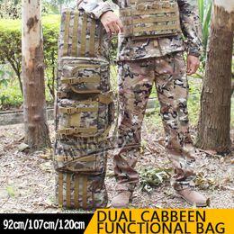WoSporT Taktik Çift Karabina Vaka çift iki tüfek çanta Büyük 1.2 m Avcılık için paintball İşlevli çanta nereden