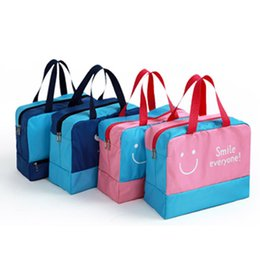 Wholesale Korean Hottest Handbag - more Inside pocket convenience Long-belt handbag Dry wet depart portative oxford fabric multifunction travel storage multicolor hot sell