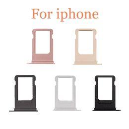 Wholesale Iphone Spares - SIM Card Tray Holder For iPhone 5g 5s 5c 5SE 6g 6plus 6S 6sPlus 7 7g 7plus plus SIM Card Tray Holder Slot Replacement Spare Repair Parts