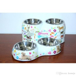 Wholesale Stainless Steel Dog Bowl Wholesale - Stainless Steel Pet Puppy Cat Dog Food Drink Water Bowl Pet Dispenser Bowls Free Shipping