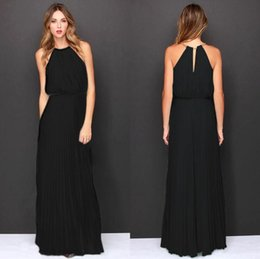 Wholesale Dress Spotted - 2017 New European sleeveless dress pleated Fashion Sexy Halter explosion spot wholesale A sleeve dress 0088