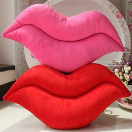 Wholesale Sexy Toys Items - 2017 NEW Free Shipping the Creative Novelty Item be hilarious Pink and Red Lip Plush Decoration as Sexy Toys Sofa Chair Pillows