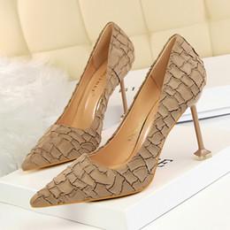b07b518c2512 Discount lady shoes pattern - Stone Pattern Lady Dress Shoes Sexy Women  Pumps Heels PU Leather