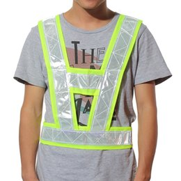 Wholesale Safety Security Harness - 200pcs lot HighTraffic Security Reflective Vest Outdoor For Running Cycling Vest Harness Reflective Belt Safety Jacket