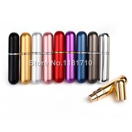Wholesale Fragrance Scent - Wholesale- Wholesale 6ml Empty Perfume Bottles,Portable Spray Atomizer, Women Metal Purse Fragrance Scent Bottle 36pcs lot