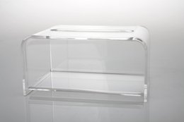 Wholesale plastic acrylic sheets - Wholesale- Modern Clear Acrylic Tissue Box, Plastic Napkin Holder, Tissue Dispenser TB007