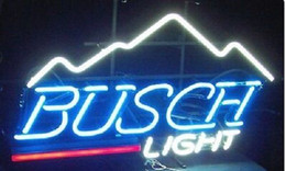 "Wholesale Lighted Bar Signs Busch - 17""x14"" BUSCH LIGHT Mountain BEER BAR PUB CLUB TAVERN NEON LIGHT WALL SIGN"