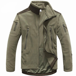 Wholesale Fleece Hunting Jacket - Men Tactical clothing autumn winter fleece army jacket softshell outdoor hunting clothing men softshell military style jackets