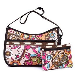 Wholesale Ladies Waterproof Messenger Bag - Wholesale-Woman Shoulder Bag Casual-Bag Nylon Waterproof Ladies Bolsa Messenger Bag Women Travel Tote Lesport Style Handbags with Clutch