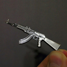 metal rifle gun Promo Codes - Original Novelty Counter Strike Gun AK47 Keychain Men Trinket Awp Rifle Sniper CS GO Saber Men's Key Chain Jewelry Souvenirs Gift