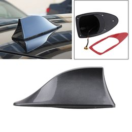 Wholesale Shark Antennas - 1pcs Car Truck Van Roof Shark Fin Antenna Radio Signal Aerial Universal For BMW Honda Toyota Hyundai VW Kia Nissan Car Styling