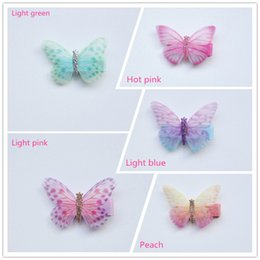 Wholesale Cute Girl Fairy - 30pcs lot Glitter Fairy Princess Hair Clip Top Quality Brand Hairpin Baby Girls Kids Hair Barrettes Cute Butterfly Summer Style