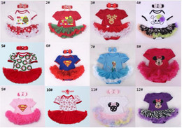 Wholesale Dress Lace Rompers Baby Girl - Baby Romper Dress Christmas Xmas Rompers+Headband 2 Pieces Set Baby Girl Tutu Dress 12 S l