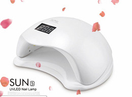 Wholesale Nail Led Lamp Professional - SUNUV SUN5 48W uv led lamp nail dryer Gel Polish curing Machine With LED Display Professional Pedicure Manicure Dryer