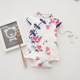Wholesale chinese outfits - Baby Girls fashion Chirpaur Romper Chinese Creative Style Romper sweet Summer outfits for 0-2T