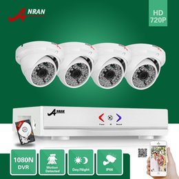 Wholesale Dvr Hdd Hdmi - ANRAN Surveillance 4CH HDMI 1800N AHD DVR With 500GB HDD 1800TVL 720P 48 IR Outdoor Waterproof Dome Video Security Camera CCTV System