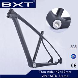 2019 bicicleta de fibra de carbono preta fosca Atualizado 2018 T800 carbono mtb quadro 29er com garfo para coincidir com 29 completa quadro da bicicleta de bicicleta de montanha de carbono quadro