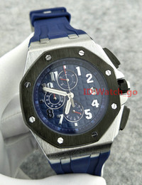 Wholesale Royal Brown Watches - Luxury Brand Quartz Blue Sports Mens Watch Chronograph Stopwatch Royal Oak Offshore Limited Edition Lebron James Men Watches Wristwatches