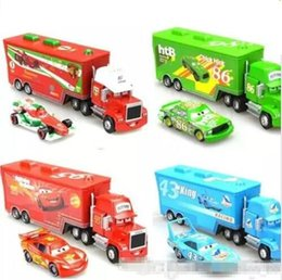 Wholesale Hicks Pixar - Cars 2 Mack Chick hauler Thai Pixar Car Lightning Hick Truck Toy car Kid 4 color with little car L008