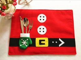 Wholesale Hot Pad Placemats - Wholesale- 1 pcs Marry Christmas Placemats Eat Mat Table Mats Plate Mat Kitchen Hot Pads Decoration Accessories Pads S2