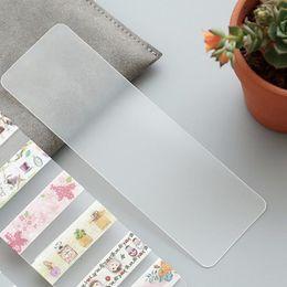 Wholesale Masking Tape Washi - Wholesale- 2016 6 PCS LOT Portable Transparent PVC Board Masking Tape Washi Tape Sheet Subpackage Plate Tape Package Planner Tool