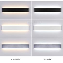 Wholesale Decoration For Hotel Wall - Modern 24cm-111cm Long Aluminum LED Wall Lamps for livingroom bathroom as Decoration Sconces Light 90-260V lamparas de pared