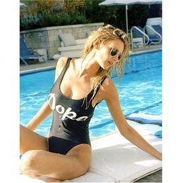 Wholesale One Piece Lycra Bodysuit - Wholesale- 2017 ITFABS Plus Size Bathing Barbie Suit Print One-Piece Swimwear Bathing Suit Women Backless Monokini Swimsuit Bodysuit