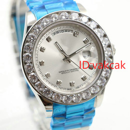 Wholesale Gold Automatic Watch President - Luxury Brand AAA watches Super N President Day Date 18K Gold Men's Watch Automatic Movement Mechanical Diamonds Bezel Dial Hour wristwatch.