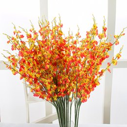 Wholesale Butterfly Birthday Party Decorations - Upscale Artificial Flower Butterfly Orchid With 3 Colors Table Flower Silk Flowers Colorful for Birthday Party Home Decoration 105 - 1010
