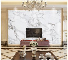 Wholesale Custom Photo Fabric - 3D photo wallpaper custom 3d wall murals White marble background wall 3d living room wall decor