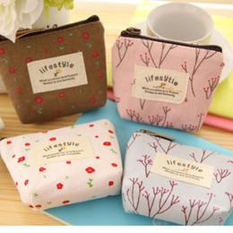 Wholesale Wholesale Small Square Canvases - Wholesale- Women's Lady Small Canvas Purse Zip Wallet Coin Key Holder Case Bag Handbag