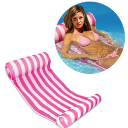 Wholesale Inflatable Floating Mat - Summer Inflatable Pool Float Swimming Floating Bed Water Hammock Recreation Beach Mat Mattress Lounge Bed Chair Pool