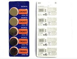 Wholesale Wholesale Wen - Button cell batteries Battery Original CR2025 CR 2025 3V Lithium Watch motherboard Wen Quxing car remote control battery