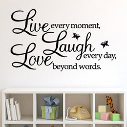 Wholesale Quotes Hot - Vinyl Lettering Quote Wall Decals Home Decor Sticker Mordern Art Mural For Kids Nursery Living Room Hot Sell 3 5sc J R